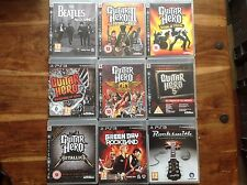 Guitar Hero PS3 X9 Metallica 3 Green Day Rockband Aerosmith Warriors Band 5