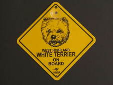 West Highland White Terrier On Board Dog Breed Yellow Car Swing Sign Gift