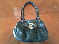 ELLE  black leather shoulder bag purse