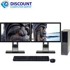 Dell Optiplex 960 Windows 10 Pro Desktop 3.0 GHz Core2Duo 8GB 250GB Dual 19 LCD