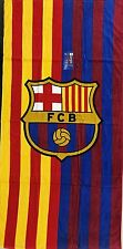 "FC BARCELONA SOCCER TEAM TWO TONE BEACH TOWEL 30""X60"""