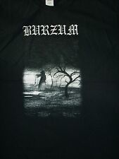 FREE SAME DAY SHIPPING NEW VARG 666BURZUM WHEN NIGHT FALLS 2 SIDED SHIRT LARGE