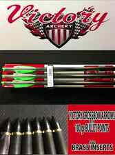 """NEW 6 Victory crossbow bolts / arrows (100 gr target points) 20"""" long"""