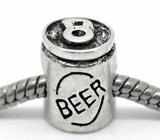 Beer Can Spacer Charm for Bracelet or Necklace Jewelry