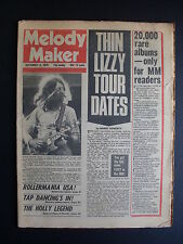 MELODY MAKER SEPTEMBER 11 1976 MANFRED MANN JEFF BECK SEX PISTOLS HALL & OATES