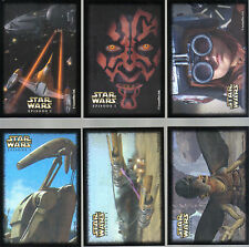 STAR WARS EPISODE 1 SET OF 12 CANADIAN STICKERS