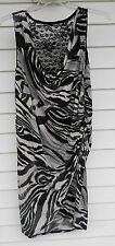 BLACK/WHITE~BISOU BISOU~PLUS~SEXY~24 W~WOMENS PLUS~24W~DRESS~LACE~STRETCH~NEW