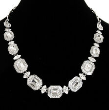 CAROLEE 'Royal Redeux' Crystal Glass Stone Silver-Tone Collar Necklace $95 NWOT