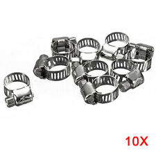10pcs Screw Band Worm Drive Hose Clamps 304 Stainless Steel Pipe Clips