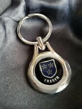 FRASER Clan Coat of Arms High Chrome Keyring Keyfob Gift Idea