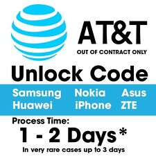 At&t Unlock Code / Service Asus LG iPhone Samsung Nokia ZTE Amazon Fire BB Z10