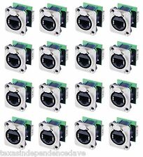 16-Pack Neutrik NE8FDP Ethercon RJ45 Feed Through D-Series Panel Mount Jacks
