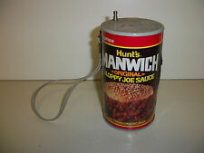Vintage Hunt's Manwich Sloppy Joe Can Transistor Novelty Radio AM FM Advertising