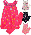 Girls Neon Star Print 2Piece Legging Top Set New Kids Party Outfit Age 2-10 Year