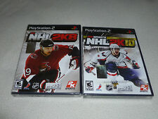 FACTORY SEALED PLAYSTATION 2 GAME LOT 2K SPORTS NHL 2K8  2K10 TENTH ANNIVERSARY