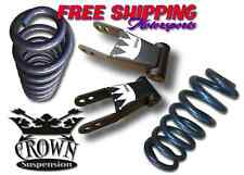 "Crown Suspension 2015-2017 Ford F150 2""-2"" Drop Lowering Coil Shackle Kit USA"