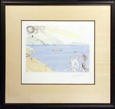 "Salvador Dali ""Les Lauriers du Bonheur"" Original Hand Colored Etching MAKE OFFER"