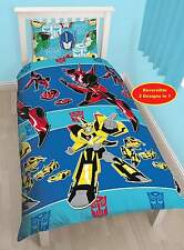 TRANSFORMERS DISGUISE SINGLE DUVET QUILT COVER KIDS BOYS REVERSIBLE BEDDING SET