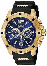 Invicta Reloj Gold Cystal Rubber Band Hombre Watch Hand Band Black Blue Arm Case