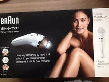 NEW BRAUN SILK-EXPERT IPL HAIR REMOVAL SYSTEM BD 5008 + Face Cleansing Brush