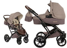 Knorr Baby 2in1 Kinderwagen Voletto Happy Color beige-braun + Zubehör 3200-05
