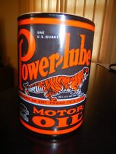 POWERLUBE GRAPHIC Motor Oil Can MUG Chicago GAS SHOW Exculsive EXPO Petrol Piece