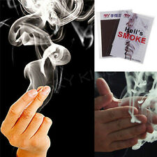 5X Close-Up Magic Change Gimmick Finger Smoke Hell's Smoke Fantasy Trick LE
