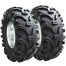 (2) Tire Wheel Rim Kit Front Yamaha Grizzly 700 4X4 25X8-12 ATV 6 PLY NEW