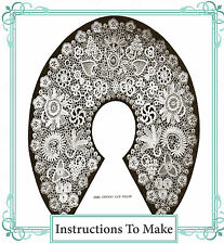 Vintage Visage Crochet pattern-how to make irish crochet lace motifs and collar