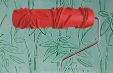 Bamboo Leaf Pattern Paint Embossed Roller 18cm Wall Texture Decorate Stencil