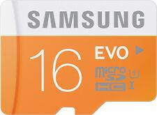 Samsung Evo 16 GB MicroSDHC Class 10 48 MB/s Memory Card