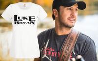 Luke Bryan Music Retro T Shirt Womens Girls Country C2C Band Top Tour XS-2XL New