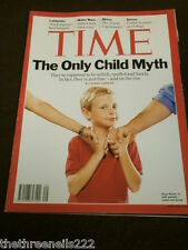 TIME MAGAZINE - THE ONLY CHILD MYTH - JULY 19 2010