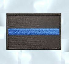 THIN BLUE LINE COP POLICE LAW ENFORCEMENT OFFICER MORALE BADGE SWAT VELCRO PATCH