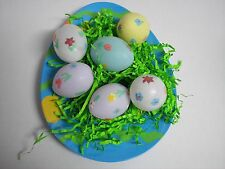 Easter Plate Easter Egg Shaped Melamine with Decorated Multi Color Plastic Eggs