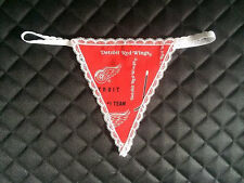 Sexy Womens DETROIT RED WINGS NHL Hockey G-String Thong Lingerie Underwear
