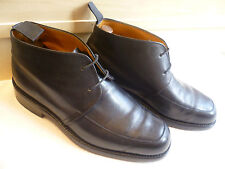 Grenson black full leather ankle boot UK 8 42 laced chukka *Double leather soles