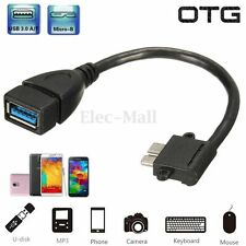Angled Micro USB3.0 OTG Cable For Samsung Galaxy Note3 N9000/2 N9005 S5 i9600