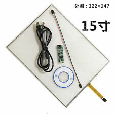"15"" 4 Wire Resistive Touch Screen Panel Kit (4:3) 15"" LCD TFT Monitor  FU8"