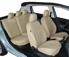 Sitzbezüge Schonbezüge Kunstleder Universal Volkswagen Passat B3 B4 B5 B6 Beige