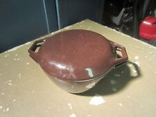 COPCO D2 Denmark Cast Iron Dutch-Oven, Chocolate Brown Enamelware Vintage w Lid