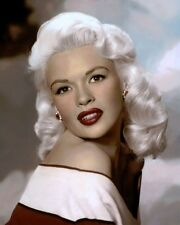 "JAYNE MANSFIELD HOLLYWOOD ACTRESS BROADWAY 8x10"" HAND COLOR TINTED PHOTOGRAPH"