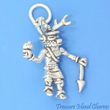 NATIVE AMERICAN DEER DANCER KACHINA DOLL 3D .925 Solid Sterling Silver Charm