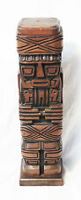 Monolith Totem Inca Bolivian Wood Handcrafted