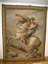 Genuine AUBUSSON tapestry tapis gobelin with NAPOLEON 2.25m x 1.65m Harrods