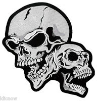 "Double Skull Back Patch 16cm X 22cm (6 1/2"" X 8 3/4"")"