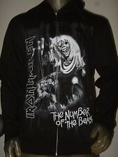 New Men's XL Iron Maiden The Number Of The Beast Metal Band Hoodie Sweater