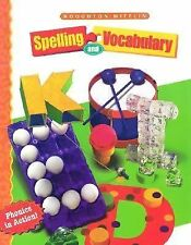Houghton Mifflin Spelling : Continous Stroke Level 2 Phonics in Action Brand New