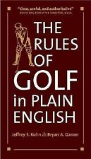 Jeffrey S Kuhn - Rules Of Golf In Plain English (2004) - Used - Trade Paper