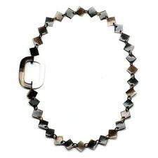 Horn Büffelhorn Halskette Kette Gliederkette braun schwarz weiß Hornkette NEU!